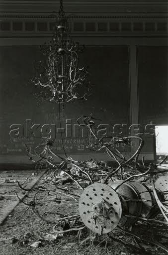 Reichskanzlei/Kronleuchter/Foto 1948