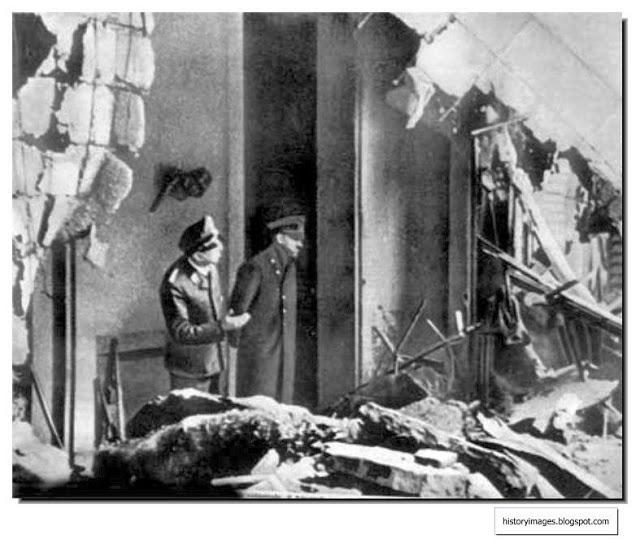 hitler-chief-gruppenfuhrer-schaub-inspect-damage-fuehrerbunker-last-images