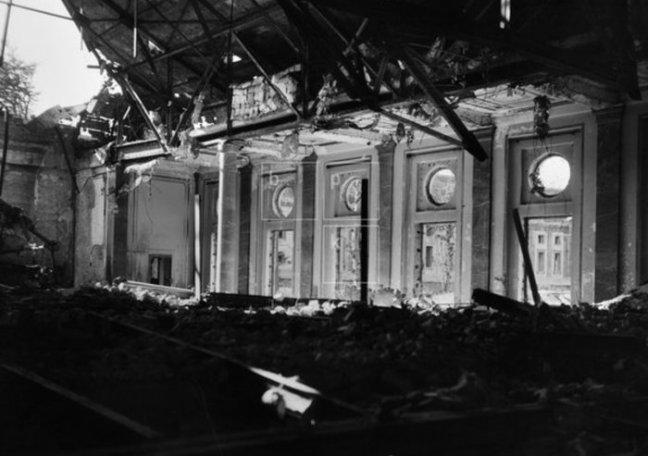 Reception Hall Destroyed above vorbunker AHF